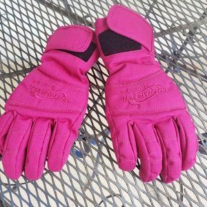 Obermeyer pink juniors M ski winter gloves